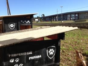 As casinhas podem ser avistadas da Rodoviária de União da Vitória/PR